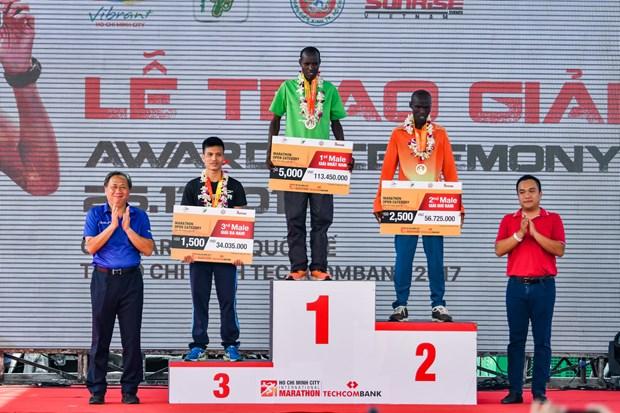 2017年胡志明市国际马拉松比赛:肯尼亚运动员大胜 hinh anh 1