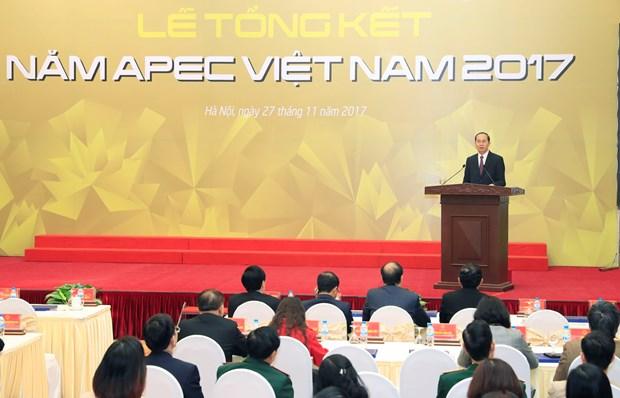 国家主席陈大光:2017年APEC会议的成功为深广融入世界经济进程注入新动力 hinh anh 1