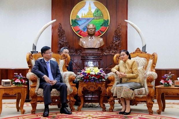 越老建交55周年:老挝国会主席高度评价越老司法合作取得的成果 hinh anh 2