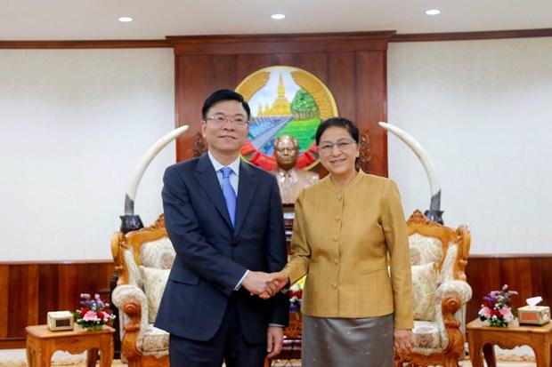 越老建交55周年:老挝国会主席高度评价越老司法合作取得的成果 hinh anh 1