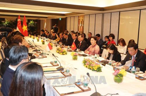 越南国会主席阮氏金银会见对越投资的新加坡企业代表 hinh anh 2