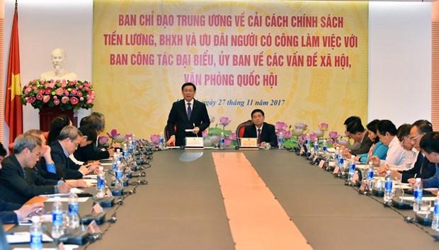 """王廷惠:政府将继续实施""""开源节流"""" 加强工资制度改革 hinh anh 1"""
