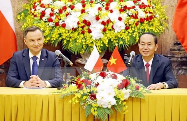 越南国家主席陈大光举行仪式欢迎波兰总统访越 hinh anh 3
