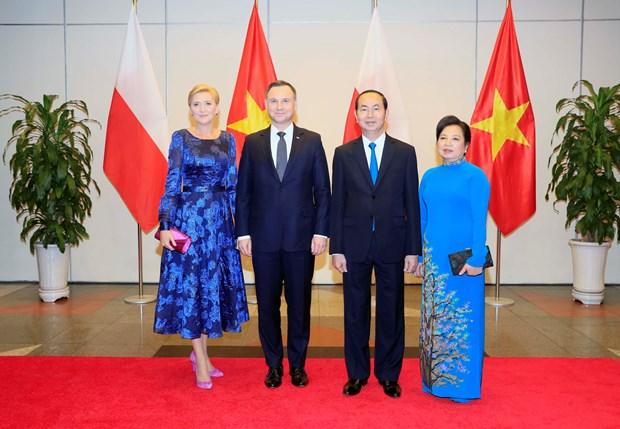 陈大光主持国宴 欢迎波兰总统访越 hinh anh 1