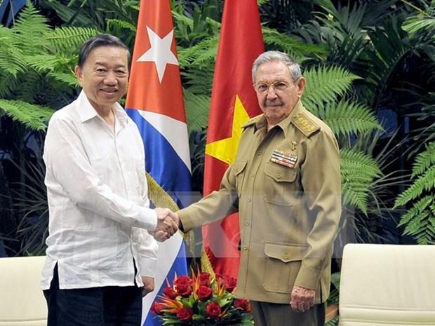 越南公安部与古巴内务部加强双边合作 hinh anh 1