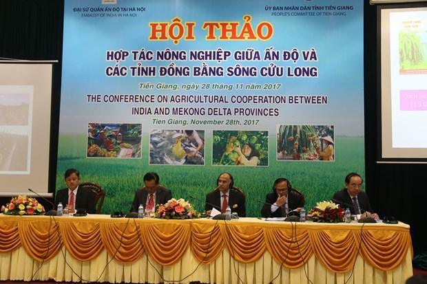 印度与越南九龙江三角洲地区各省加强农业合作 hinh anh 1