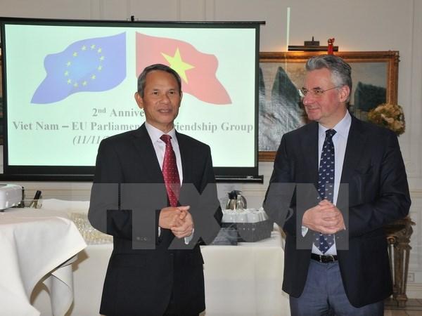 欧洲议会举行欧越友好议员小组成立2周年纪念仪式 hinh anh 1