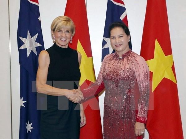 越南国会主席阮氏金银会见澳大利亚外长朱莉·毕晓普 hinh anh 2