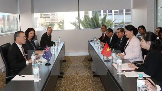 越南国会主席阮氏金银会见澳大利亚企业代表 hinh anh 1