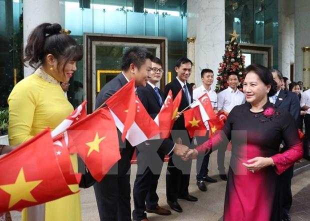 国会主席阮氏金银圆满结束对新加坡和澳大利亚的正式访问 hinh anh 1