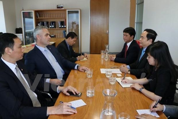 越南祖国阵线中央委员会代表团对新西兰进行工作访问 hinh anh 1