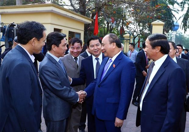 阮春福总理在海防市开展选民接待活动 hinh anh 2
