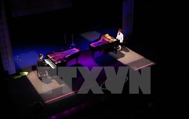 德国两名著名钢琴家在河内演出 hinh anh 1