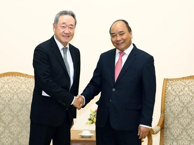 政府总理阮春福会见韩国Maekyung传媒集团主席张大焕 hinh anh 1