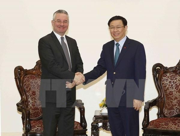 越南政府副总理王廷惠会见欧洲议会国际贸易委员会副主席 hinh anh 1