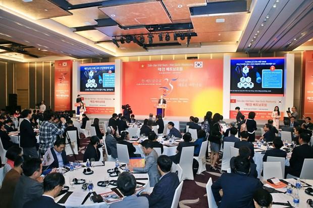 郑廷勇副总理:力争在2020年前将越韩双边贸易额提升为1000亿美元 hinh anh 2
