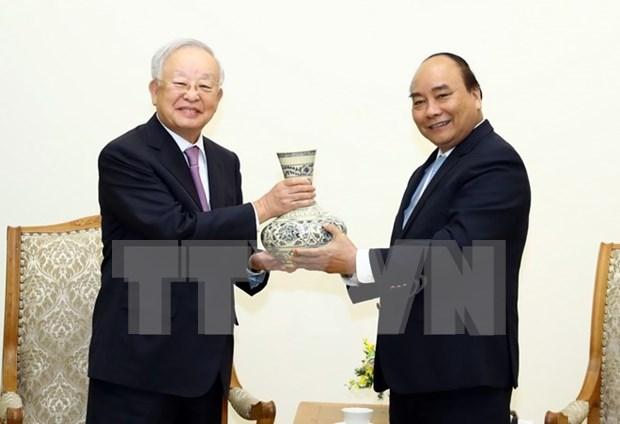 阮春福会见韩国希杰集团主席孙京植 hinh anh 1