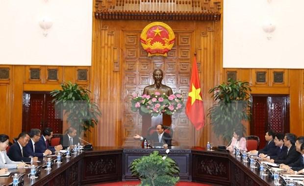 越南政府总理阮春福会见老挝外交部长 hinh anh 2