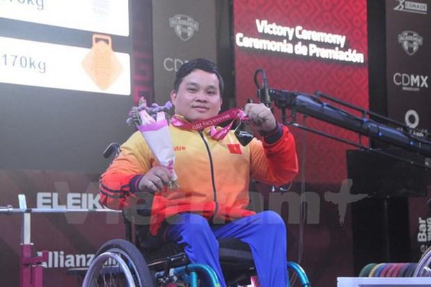 2017年世界残奥举重锦标赛:越南体育代表团夺一金两银 hinh anh 1