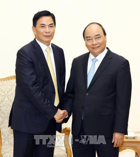 越南政府总理阮春福会见中国香港企业领导 hinh anh 1