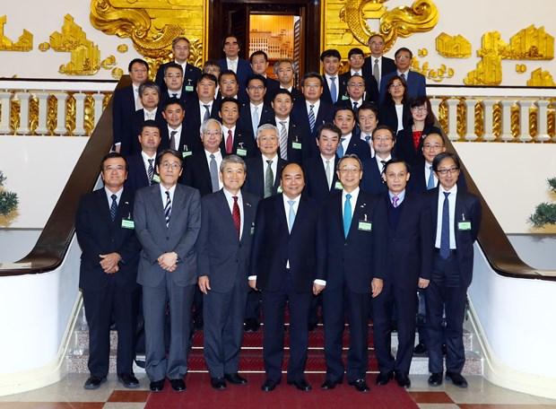 阮春福总理会见日本经济团体联合会代表团 hinh anh 2