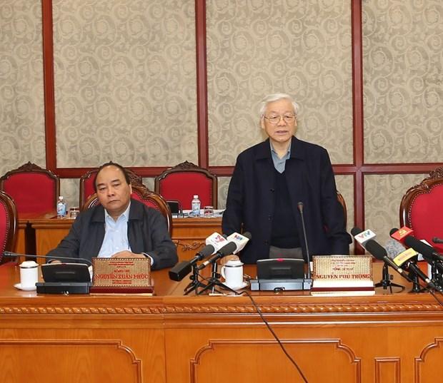 越共中央政治局召开会议:阮富仲要求做好干部工作 hinh anh 1
