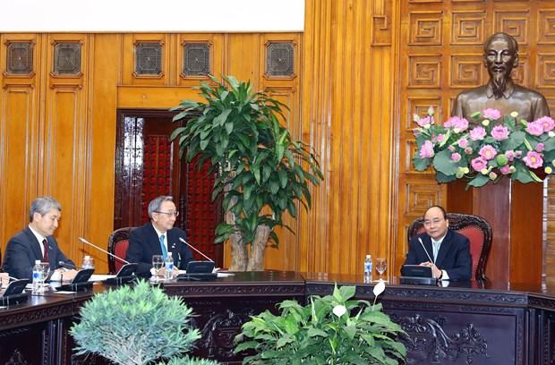阮春福总理会见日本经济团体联合会代表团 hinh anh 1