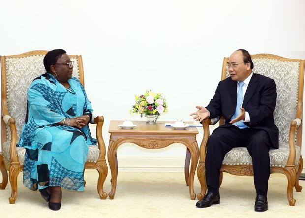 越南政府总理阮春福会见利比里亚外交部长 hinh anh 2