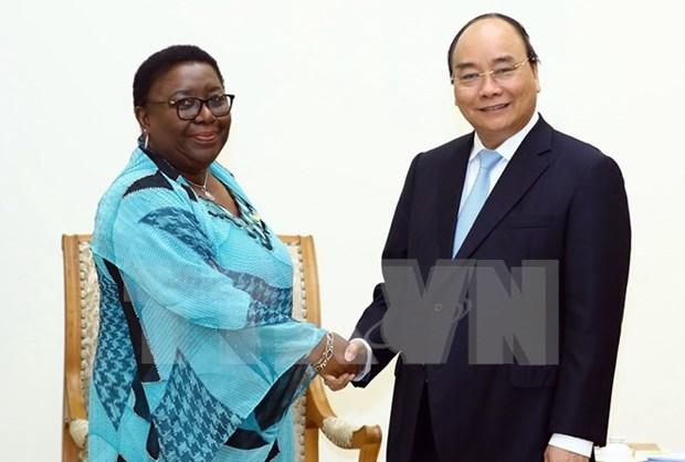越南政府总理阮春福会见利比里亚外交部长 hinh anh 1