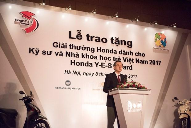 越南10名优秀年轻工程师和科学家获得2017年本田奖项 hinh anh 1