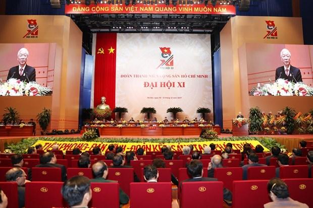 胡志明共青团第十一次全国代表大会在河内隆重开幕 hinh anh 2