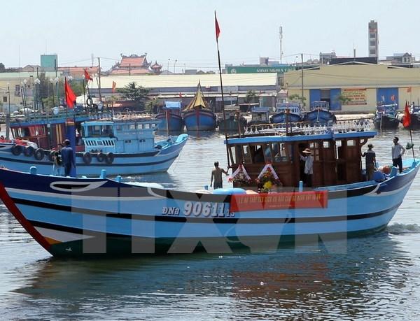岘港市援助渔民们进行合法捕捞 hinh anh 1
