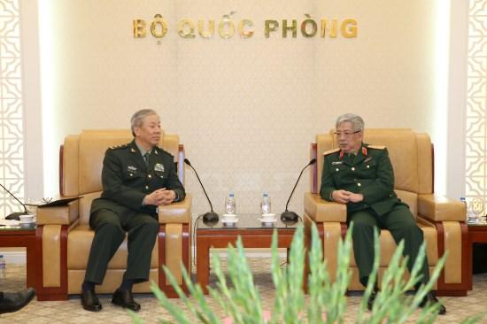 阮志咏上将会见中国人民解放军南部战区代表团 hinh anh 1
