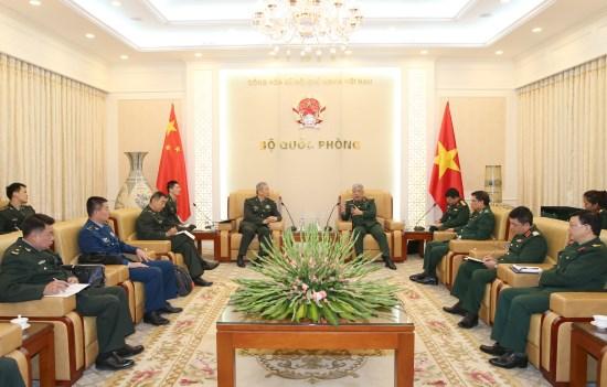 阮志咏上将会见中国人民解放军南部战区代表团 hinh anh 2