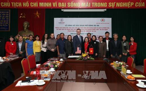 美国协助越南红十字会提高灾害风险管理能力 hinh anh 1