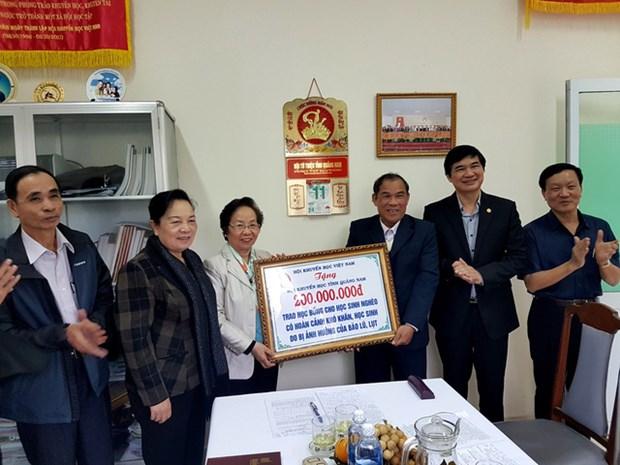 越南助学协会为灾区学生提供支持 hinh anh 1