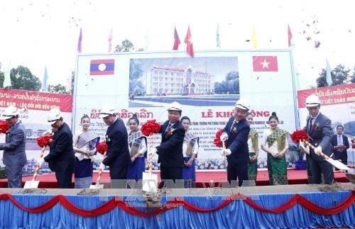 越南援建老挝一高中项目开工 hinh anh 2