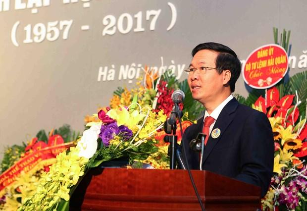 越共中央宣教部长武文赏出席越南美术协会成立60周年纪念活动 hinh anh 1