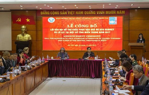 越南呼吁协助中部灾民开展灾后重建工作 hinh anh 1