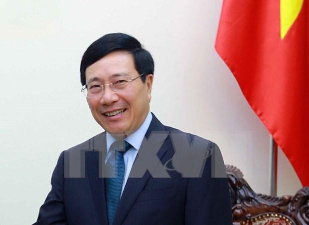 越南政府副总理兼外长范平明即将对韩国进行正式访问 hinh anh 1