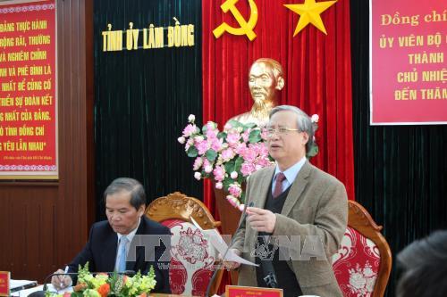 陈国旺与林同省领导就当地经济社会发展情况和党建举行工作会议 hinh anh 1