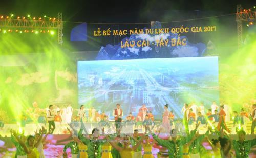 2017年老街西北国家旅游年闭幕式昨晚举行 hinh anh 1