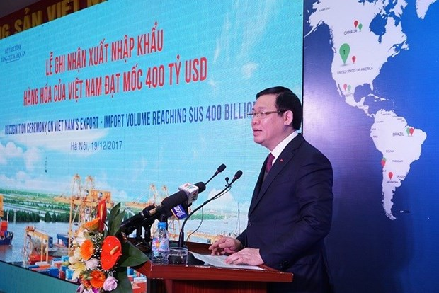  2017年越南进出口额创下4000亿美元的纪录 hinh anh 1
