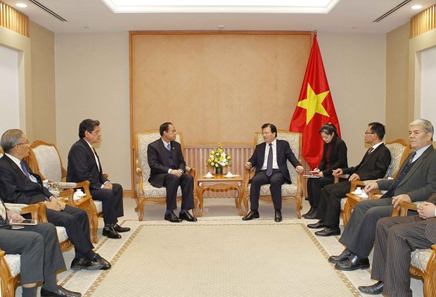 越南政府副总理郑廷勇会见缅甸-越南友好协会主席 hinh anh 2