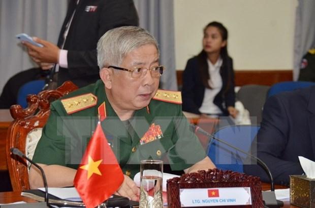 越柬建交50周年:第三次越柬副部长级国防政策对话在柬举行 hinh anh 1