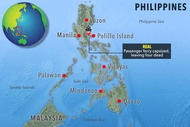 """台风""""天秤""""侵袭菲律宾 一艘渡轮沉没252人获救 hinh anh 1"""