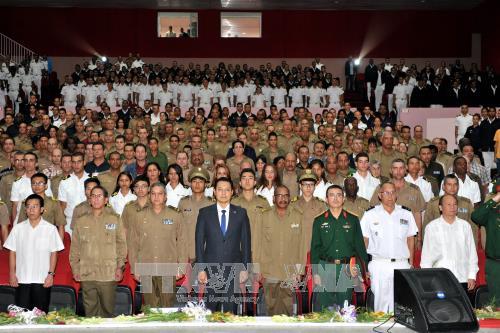 越南人民军成立73周年纪念活动在老古巴和捷克举行 hinh anh 2