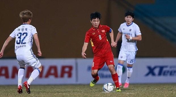 友谊赛:越南U23队2比3不敌韩职联4强 hinh anh 1