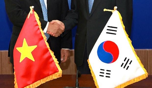 越韩领导人互致贺电庆祝两国建交25周年 hinh anh 1