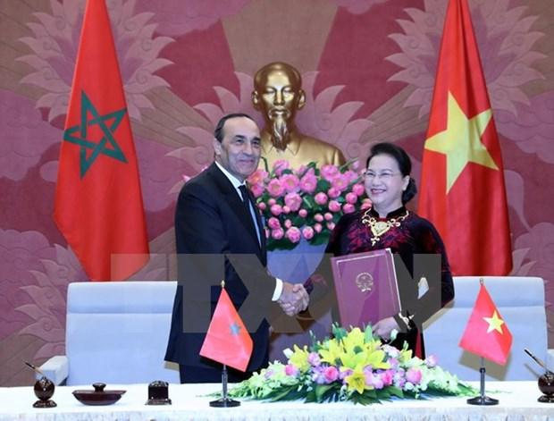 摩洛哥众议院议长哈比博·马勒克结束对越南的正式访问 hinh anh 1
